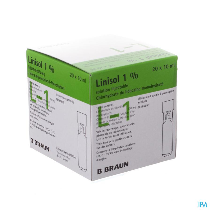 Braun Minip Linisol 1 % 20 Amp 10ml