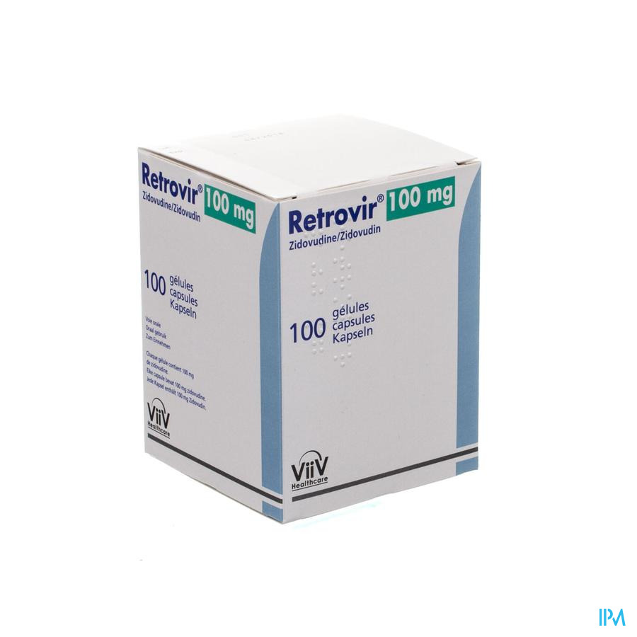 Retrovir Caps 100 X 100mg
