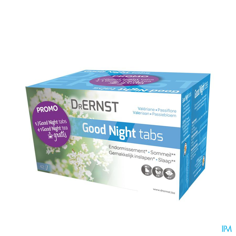 Dr Ernst Good Night Tabs Promo Comp 42+zakje 20