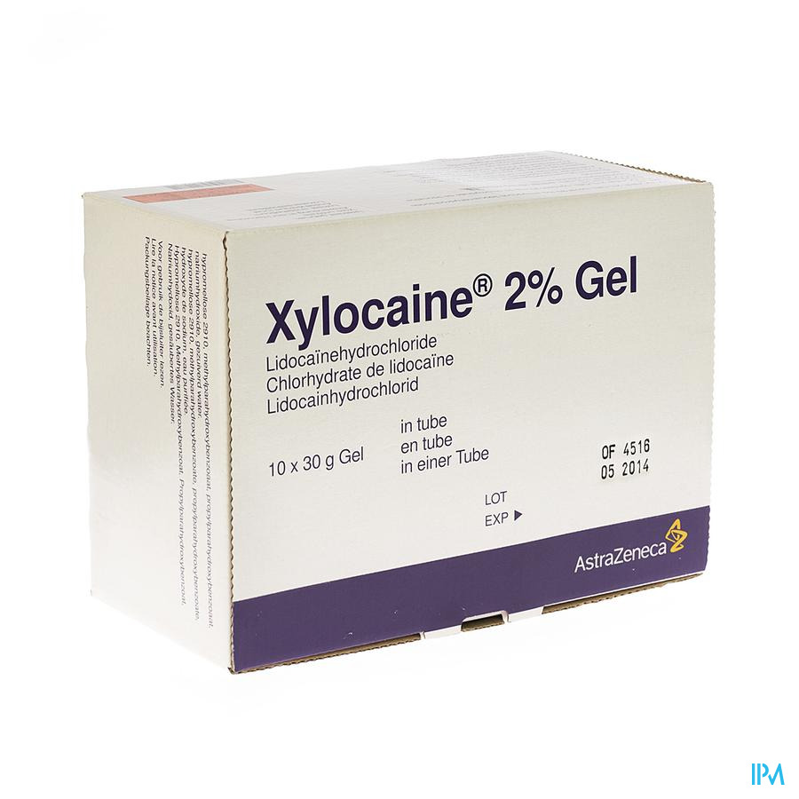 Xylocaine 2 % Gel 30ml 10 Tube