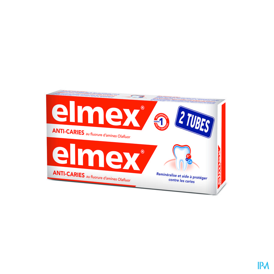DENTIFRICE ELMEX® ANTI-CARIES TUBE 2x75ML -1.50€
