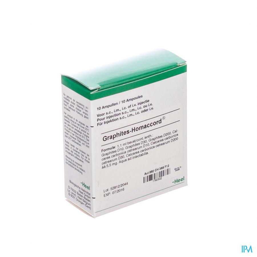 Graphites-homaccord Amp 10x1,1ml Heel