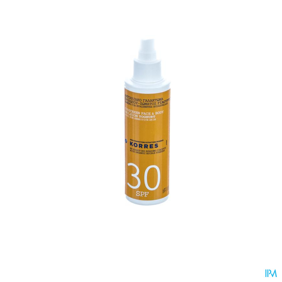 Korres Ks Sun Spray Yogourt Ip30 150ml