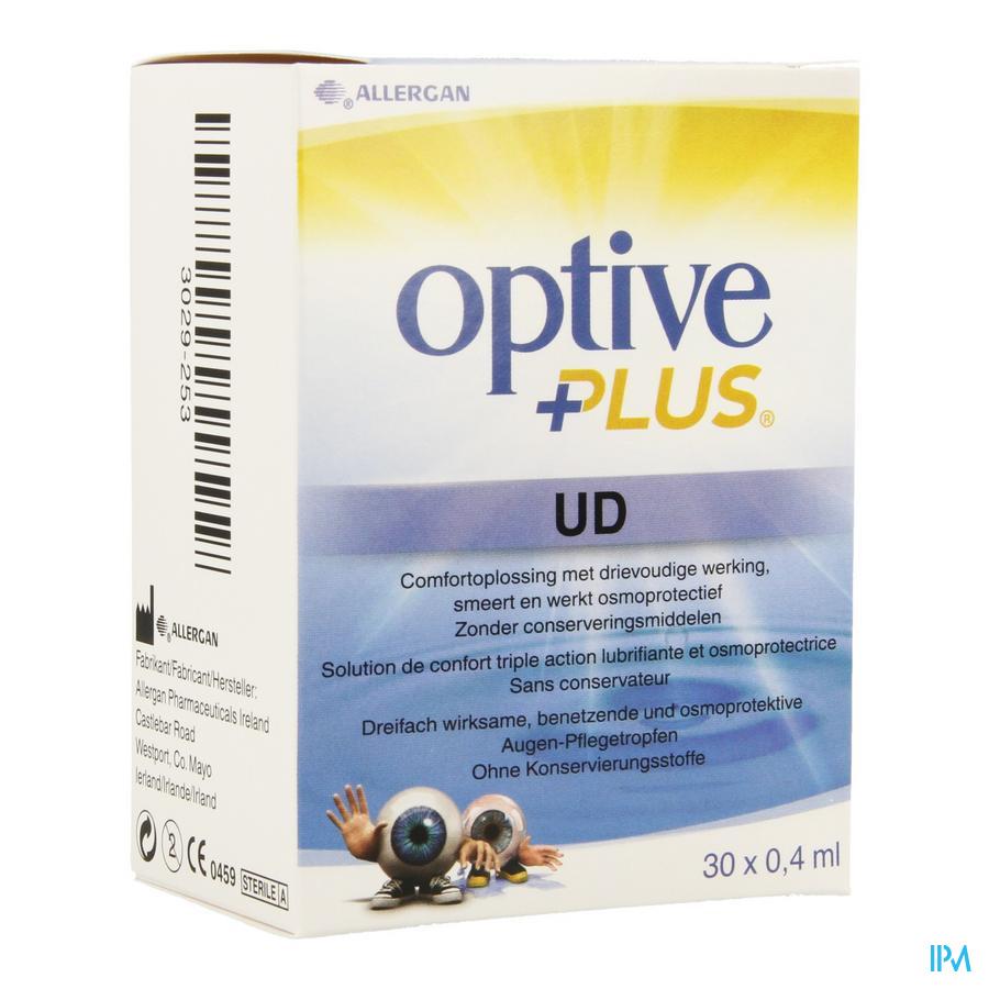 Optive Plus Sol Ster Fl 30x0,4ml Ud