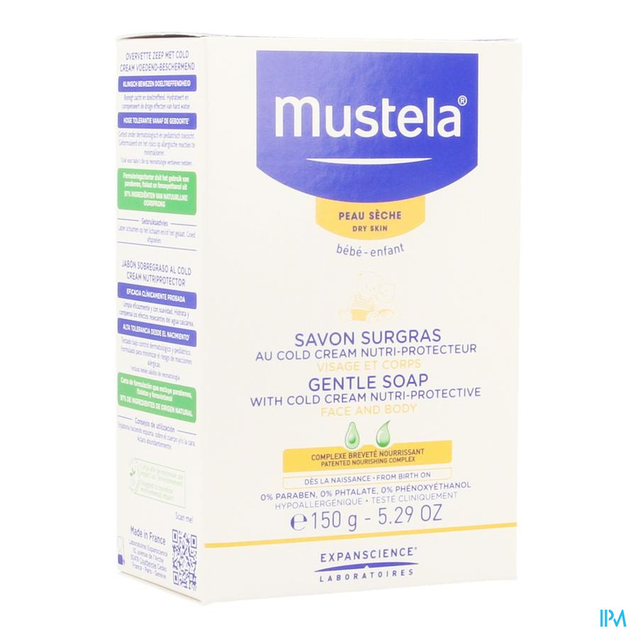 Mustela Ps Zeep Overvet Cold Cream 150g
