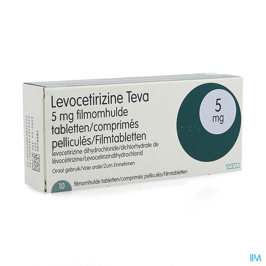 Levocetirizine Teva 5 mg Tabletten 10