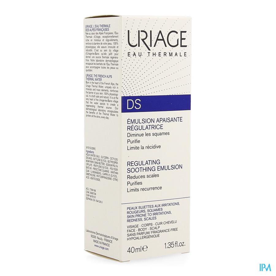 Uriage Ds Emuls Soin Regulateur Tube 40ml