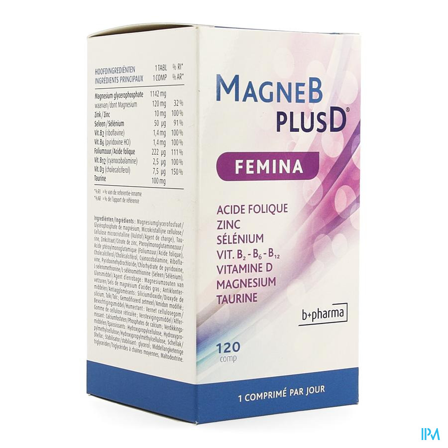 Magne B Plus D Femina 120 Caps