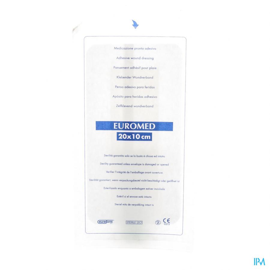 Euromed 10x20cm 1 Eilandpleister Adhesive Steriel