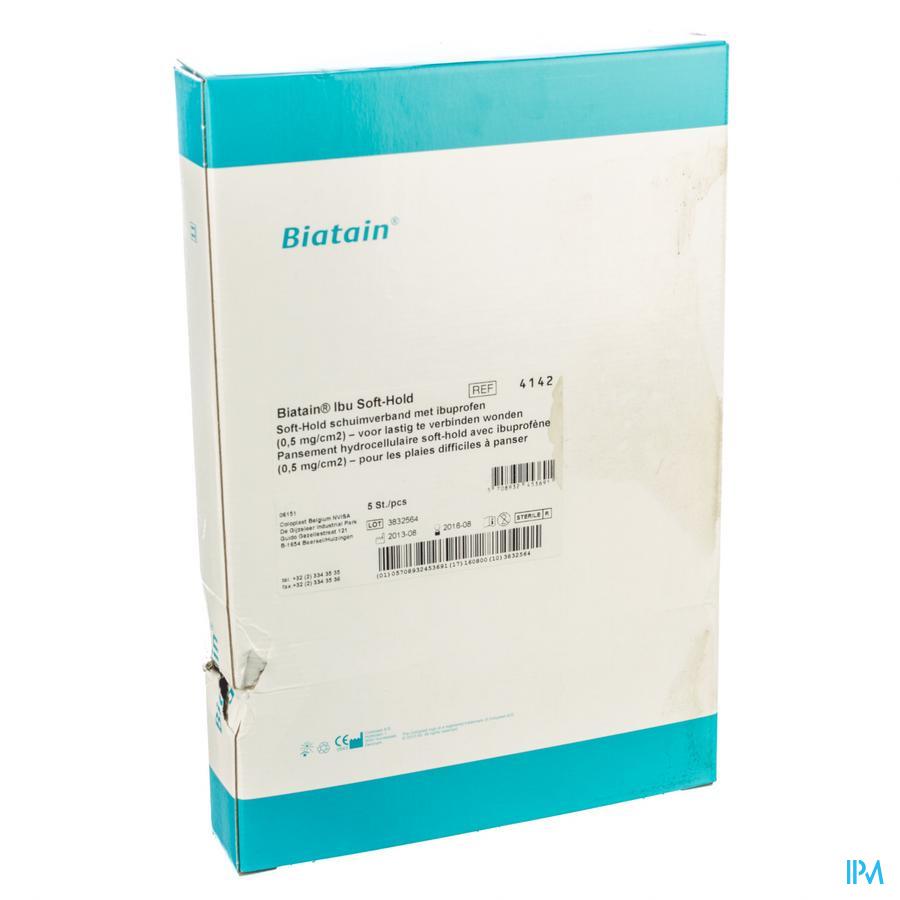 Biatain-ibu Verband Softhold + ibuprof.10x20,0 5 34142 - Coloplast