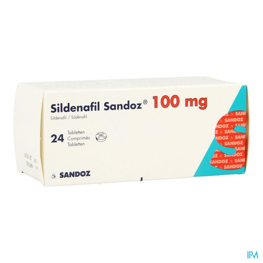 Sildenafil Sandoz 100mg Pi Pharma Comp 24 Pip