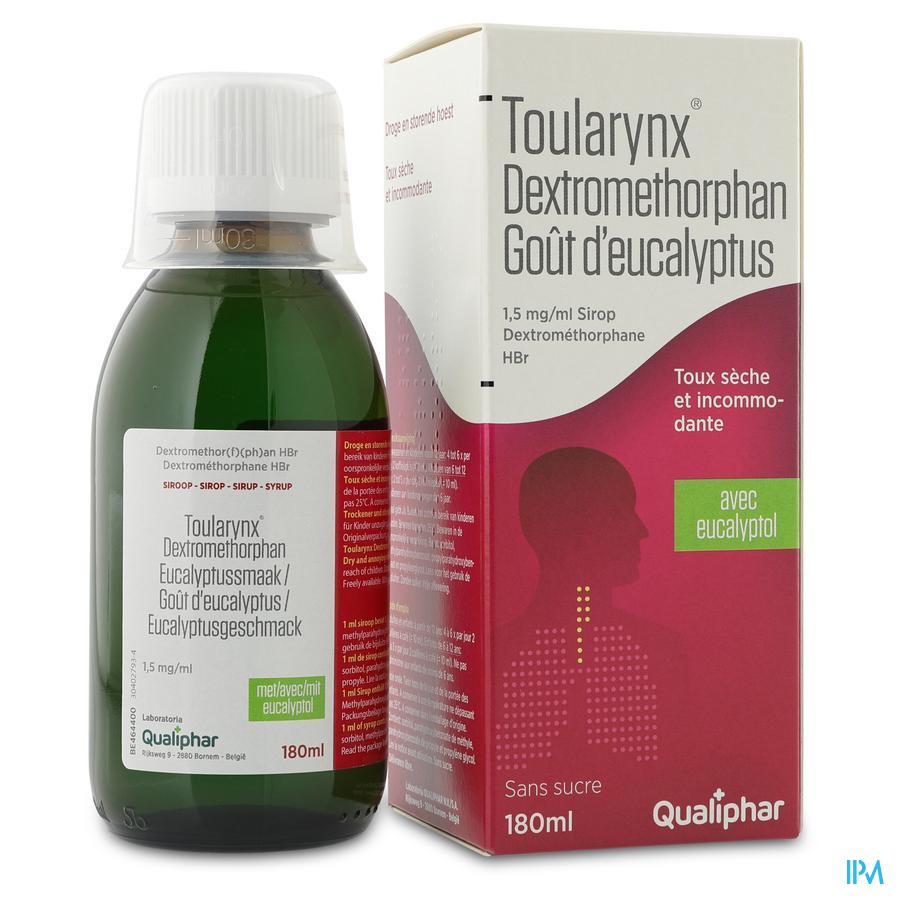 Toularynx Dextromethorphan Eucalyptussmaak 180ml siroop