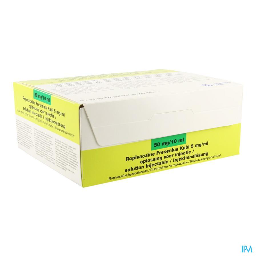 Ropivacaine 5mg/ml 10ml Pe Amp