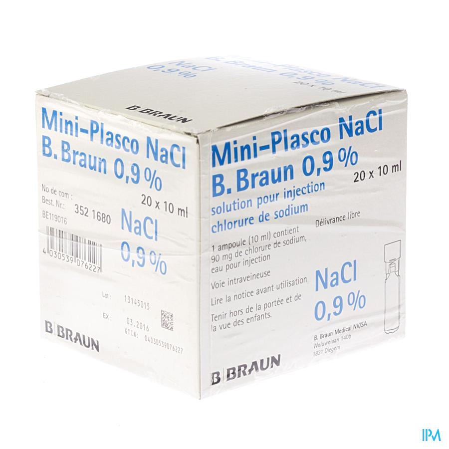 Mini Plasco Nacl 0,9 % Amp20x10ml