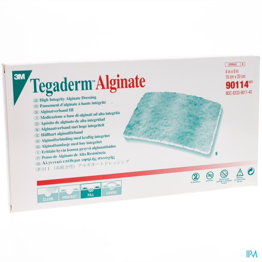 Tegaderm Alginate Steril 10cmx20cm 5 90114