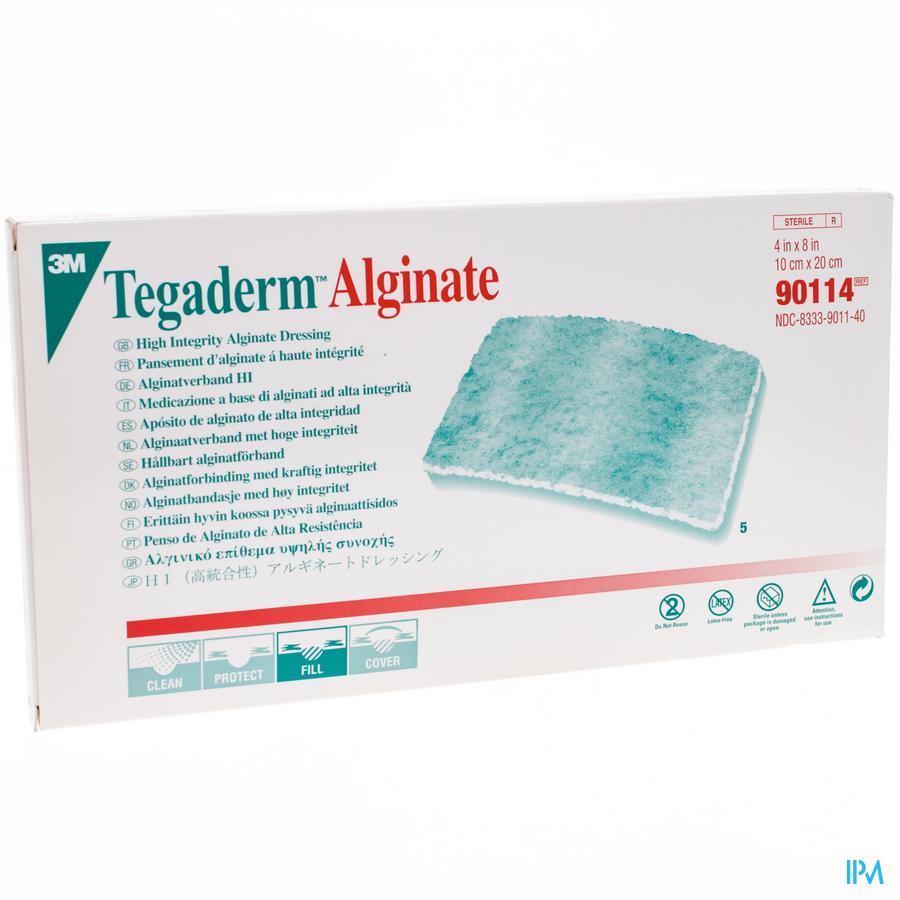 Tegaderm Alginate Steril 10cmx20cm 5 90114