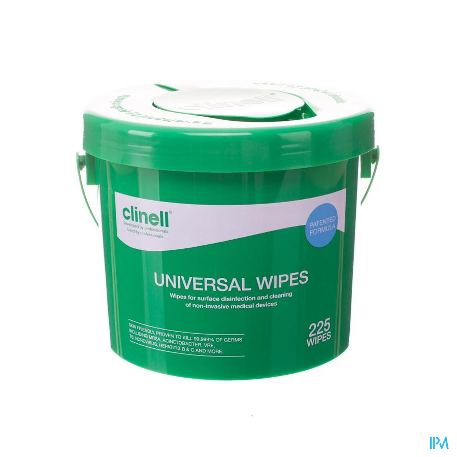 Clinell Universal Wipes Bucket 225 Pcs