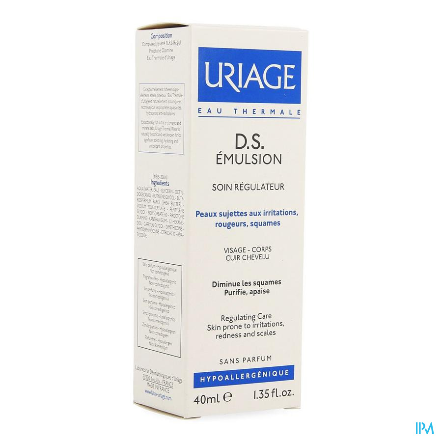 Uriage Ds Emuls Regulerende Verzorging Tube 40ml