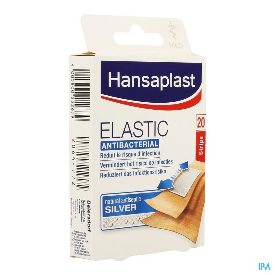 Afbeelding Hansaplast Pleister Elatic Antibacterieel 20 Strips.