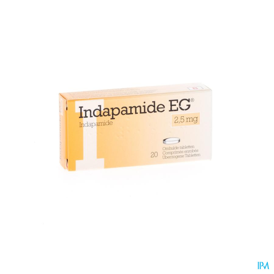 Indapamide Eg Drag 20x2,5mg