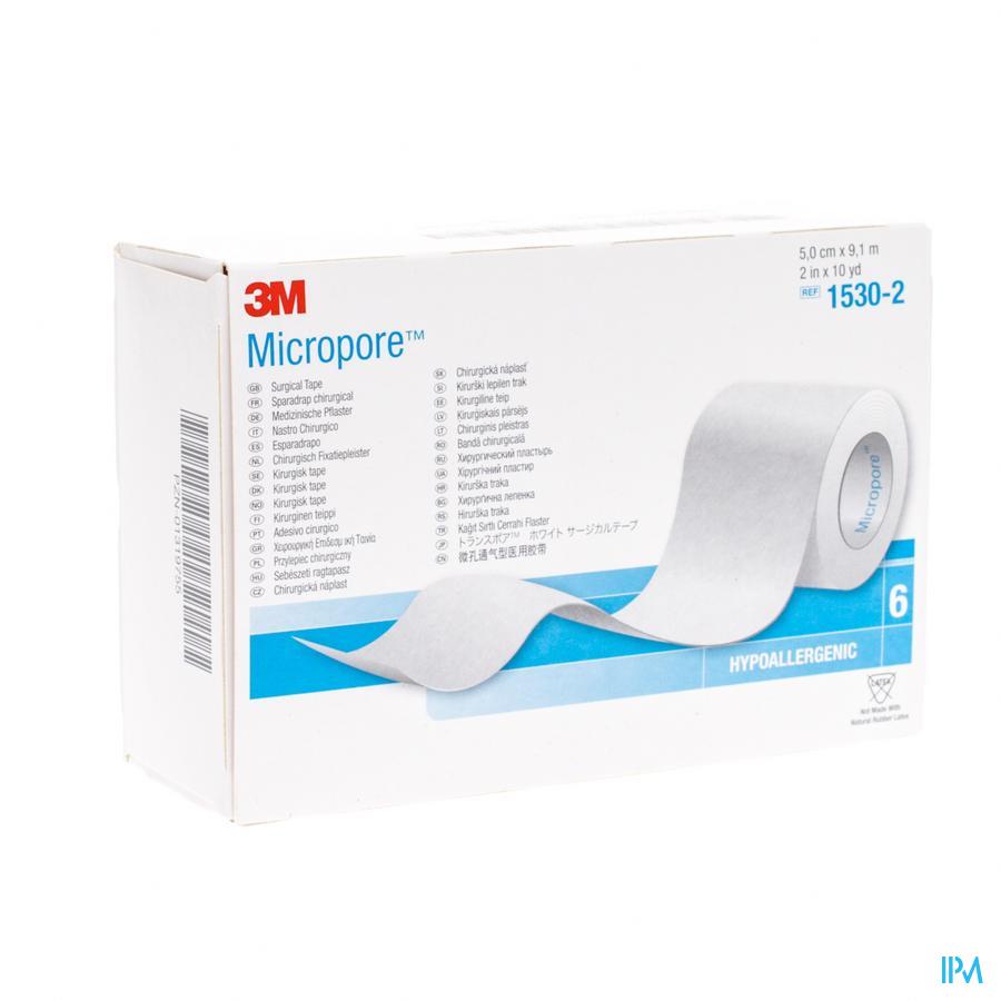 Micropore 3m Hechtpleister 50mmx9,14m Rol 6 1530
