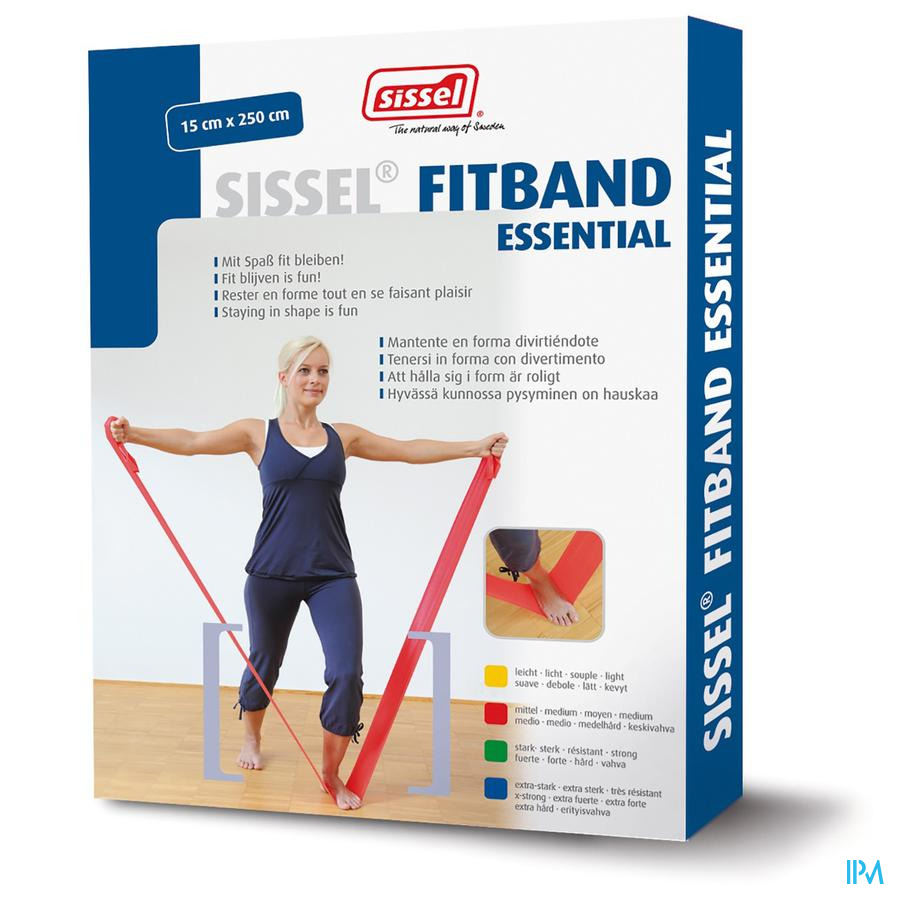Sissel Fitband Essential 15cmx2,5m X-strong Blauw