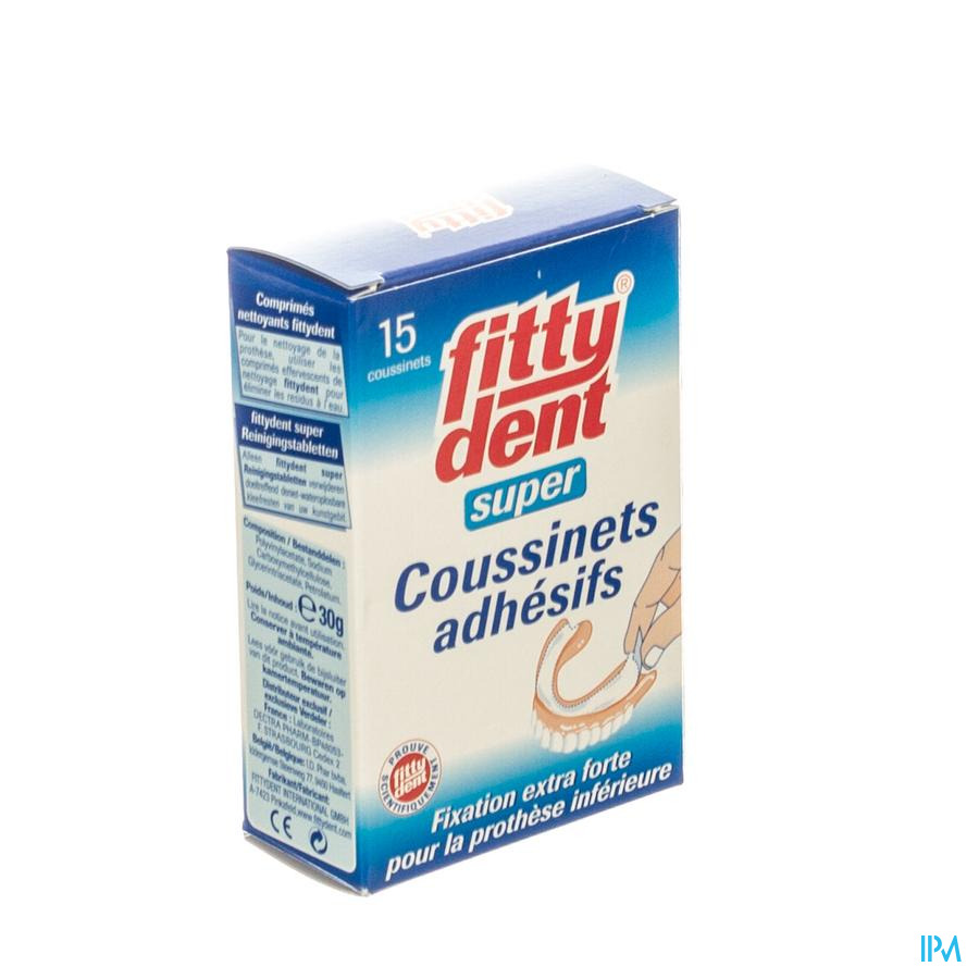 Fittydent Coussins Superadhesive 15
