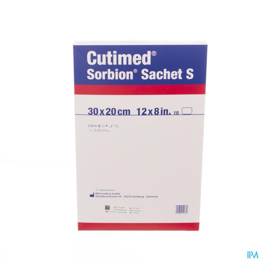 Cutimed Sorbion Zakje S 30x20cm 10