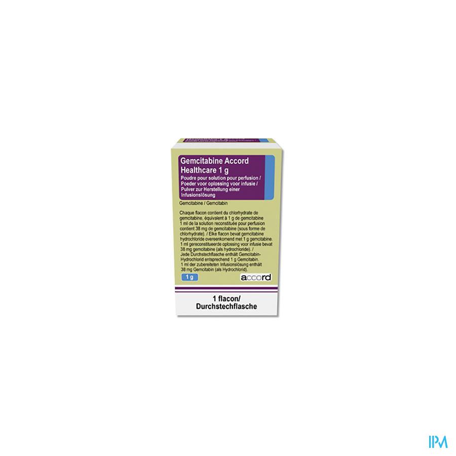 Gemcitabine Accord Healthcare Sol. Perf. I.v. [flac.] 1x 1g