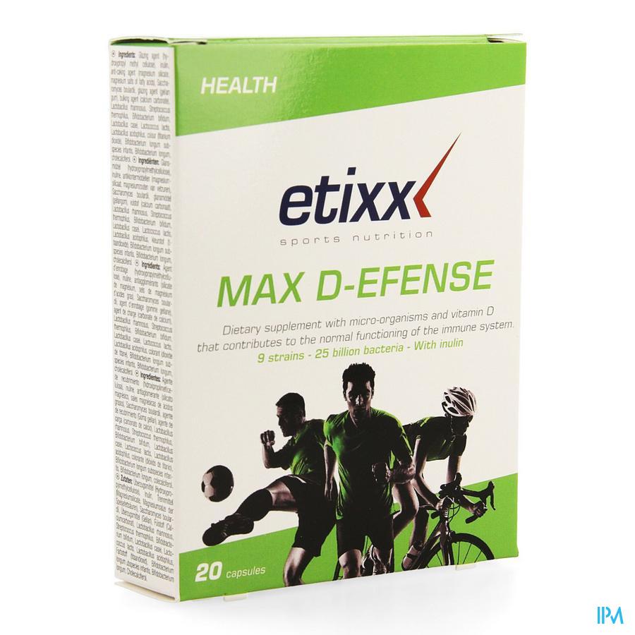Afbeelding Etixx Max D-Efense met Micro-Organismen en Vitamine D 20 Capsules .
