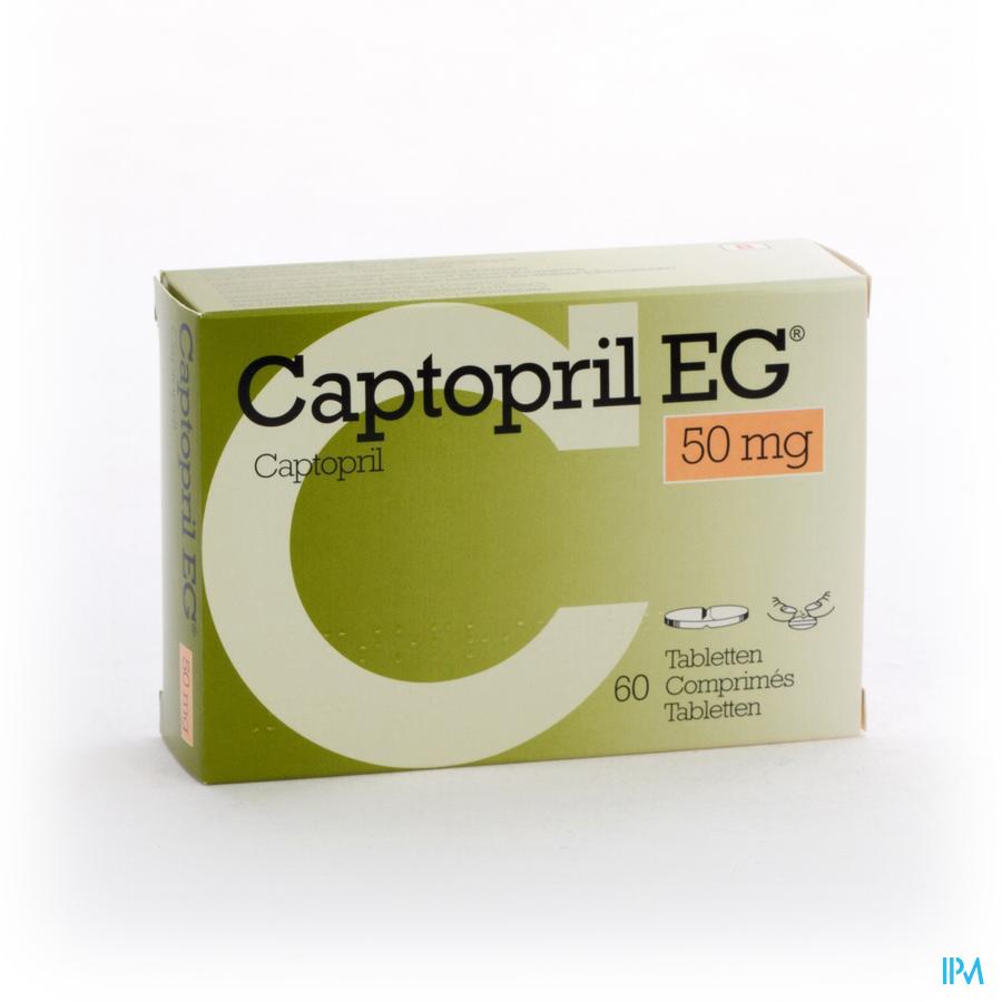 Captopril Eg 50mg Comp 60x 50mg