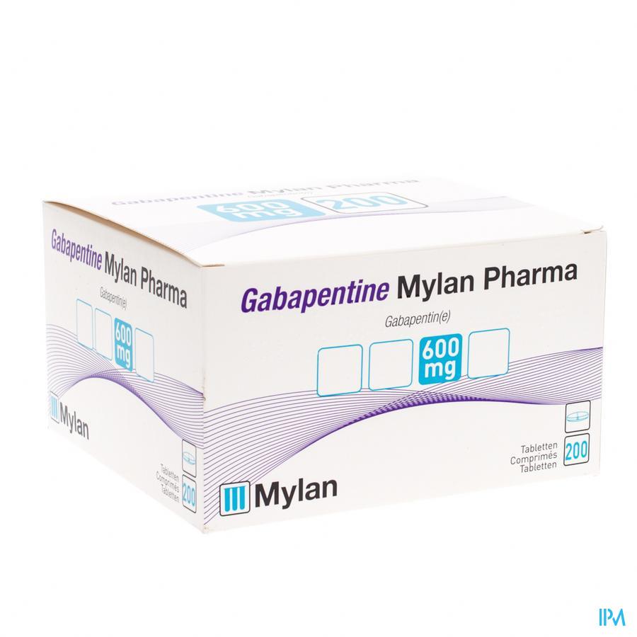 Gabapentine Mylanpharma 600mg Comp Pell 200x600mg