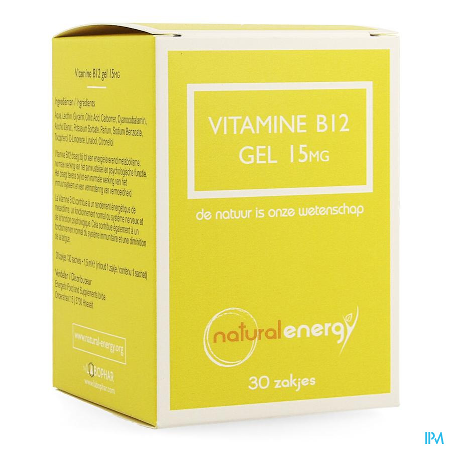 Natural Energy Vitamine B12 Gel 30x1,5ml