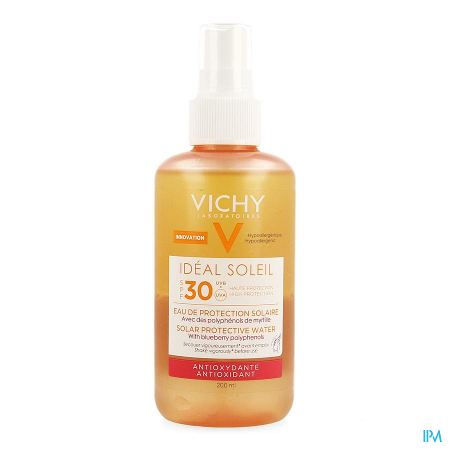 Vichy Ideal Soleil Bescherm.wat. A/oxid.ip30 200ml