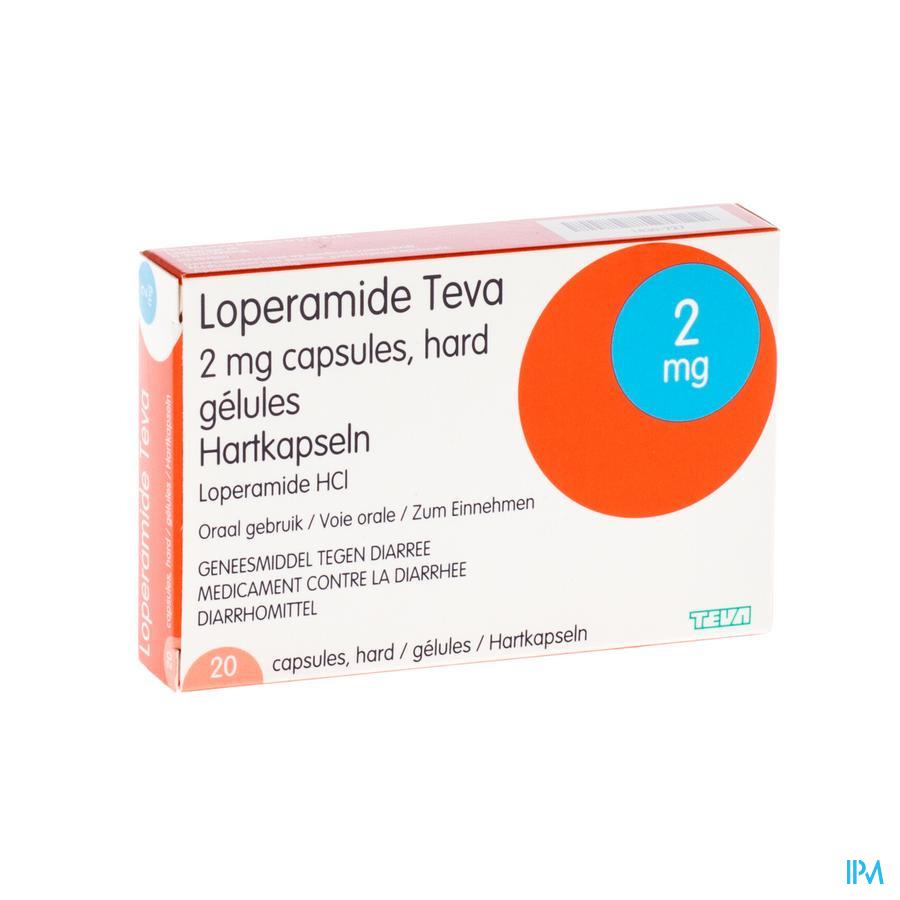 Loperamide Teva Capsule 20 X 2 mg