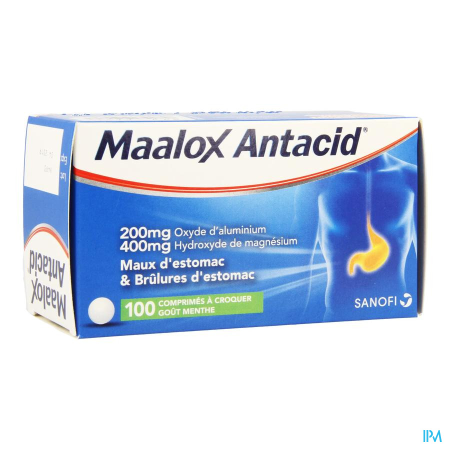 Maalox Antacid 200/400 Comprimés 100