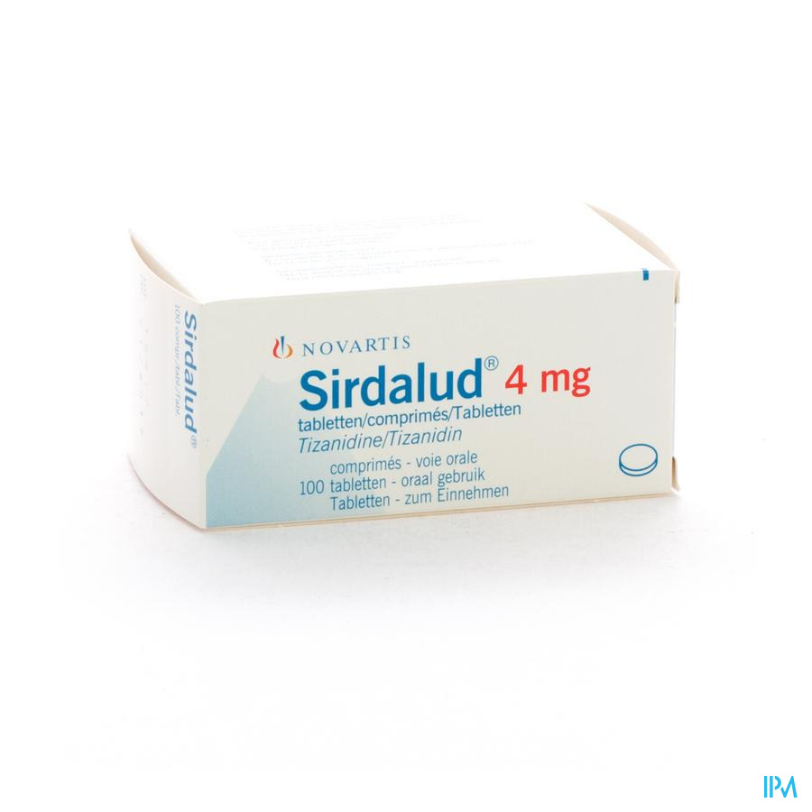 Sirdalud Comp 100 X 4mg