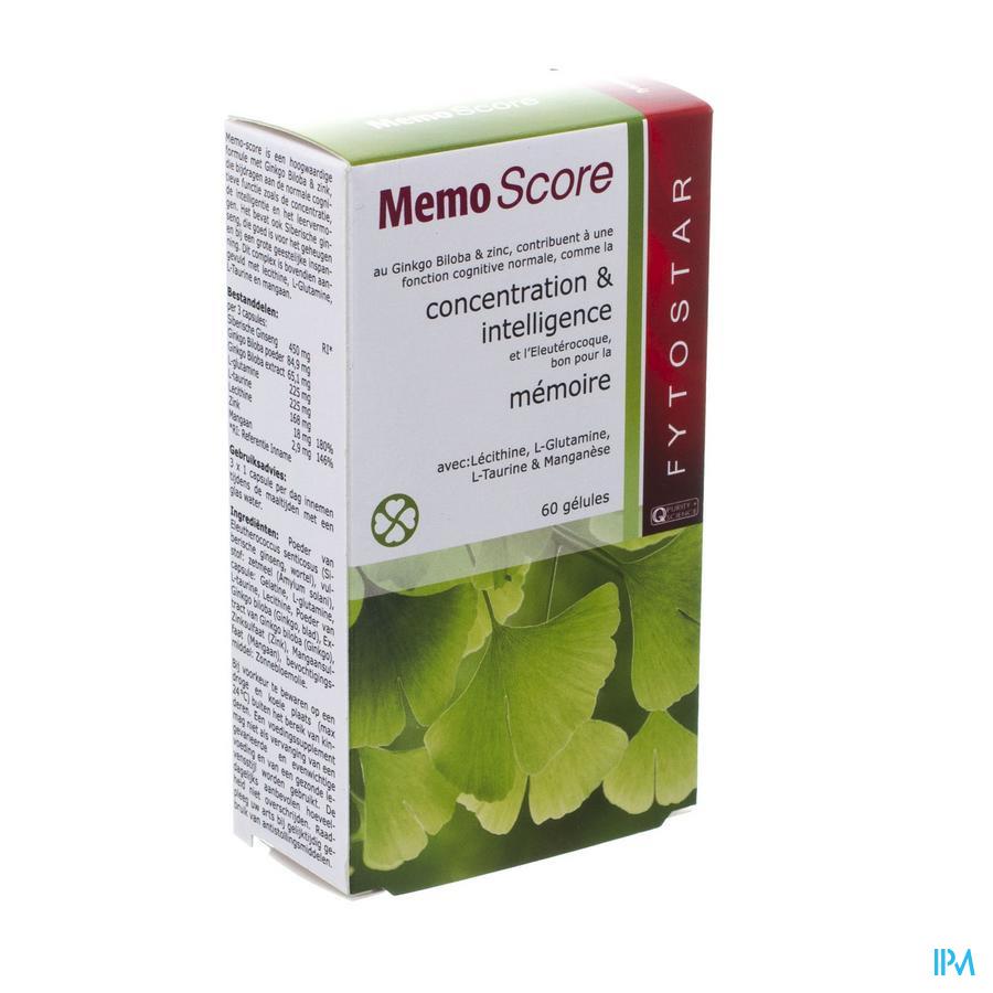 Biostar Memo-score Caps Vegetal 60x535mg