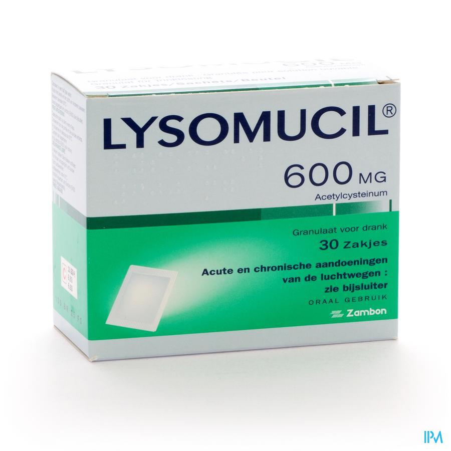 LYSOMUCIL 600MG 30ZAK ZSUIKER