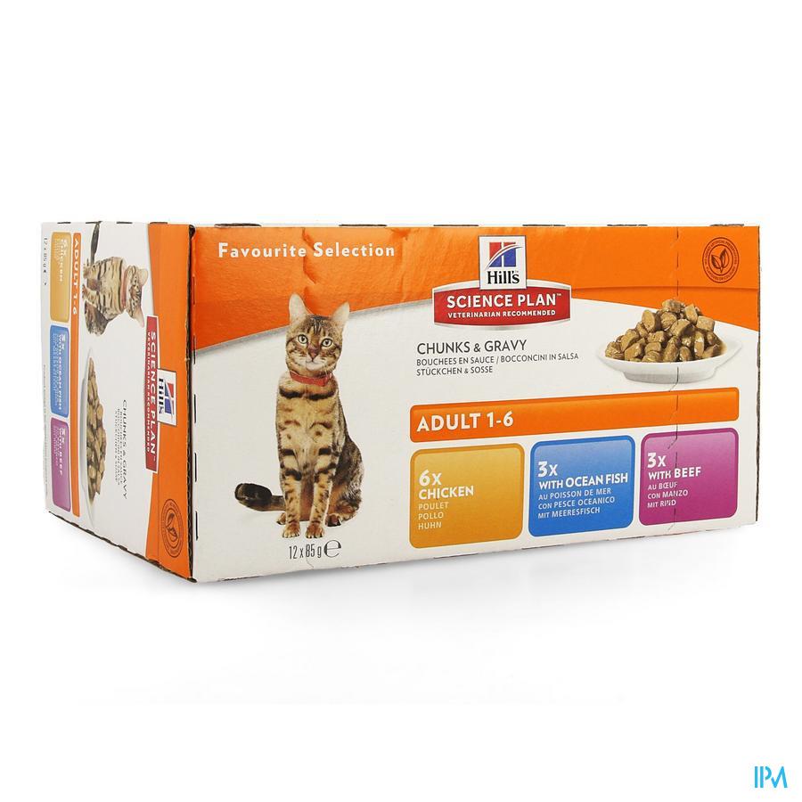 Hills Sc.plan Feline Adult Multip. Classic 12x85g
