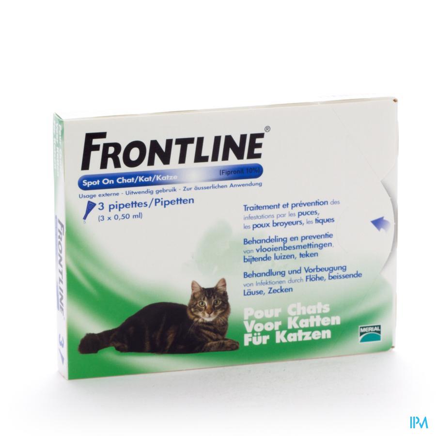 Frontline Spot On Kat Pipet 3x0,50ml