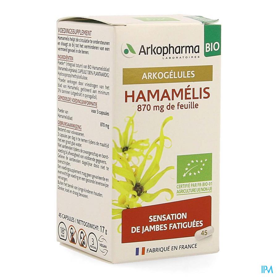 Arkogelules Hamamelis Bio Caps 45 Nf