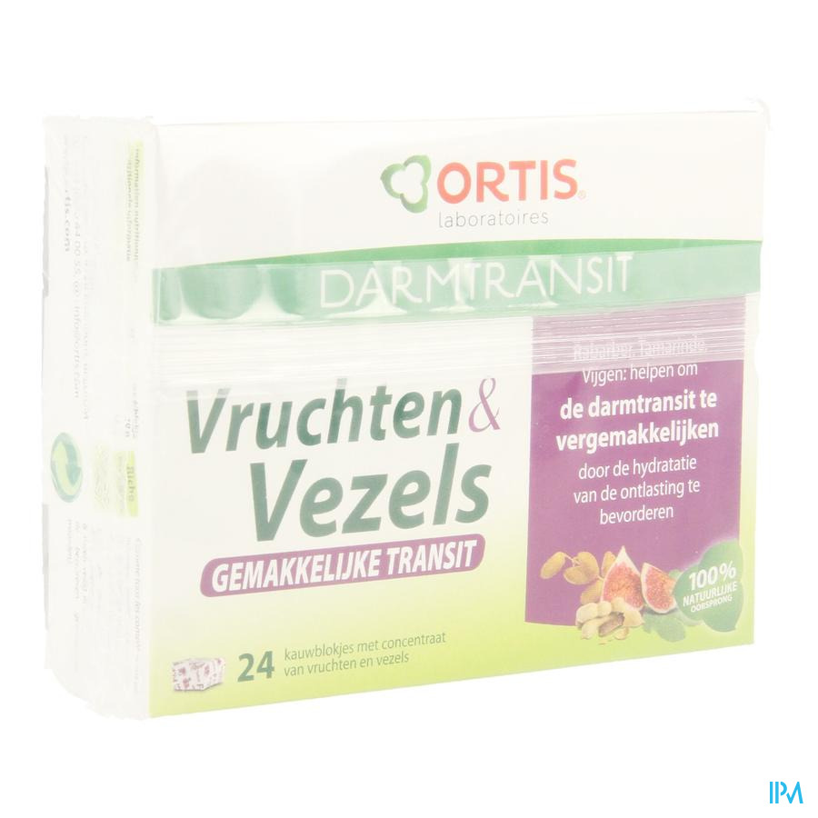 Ortis Fruits & Fibres Transit Facile Cubes 24