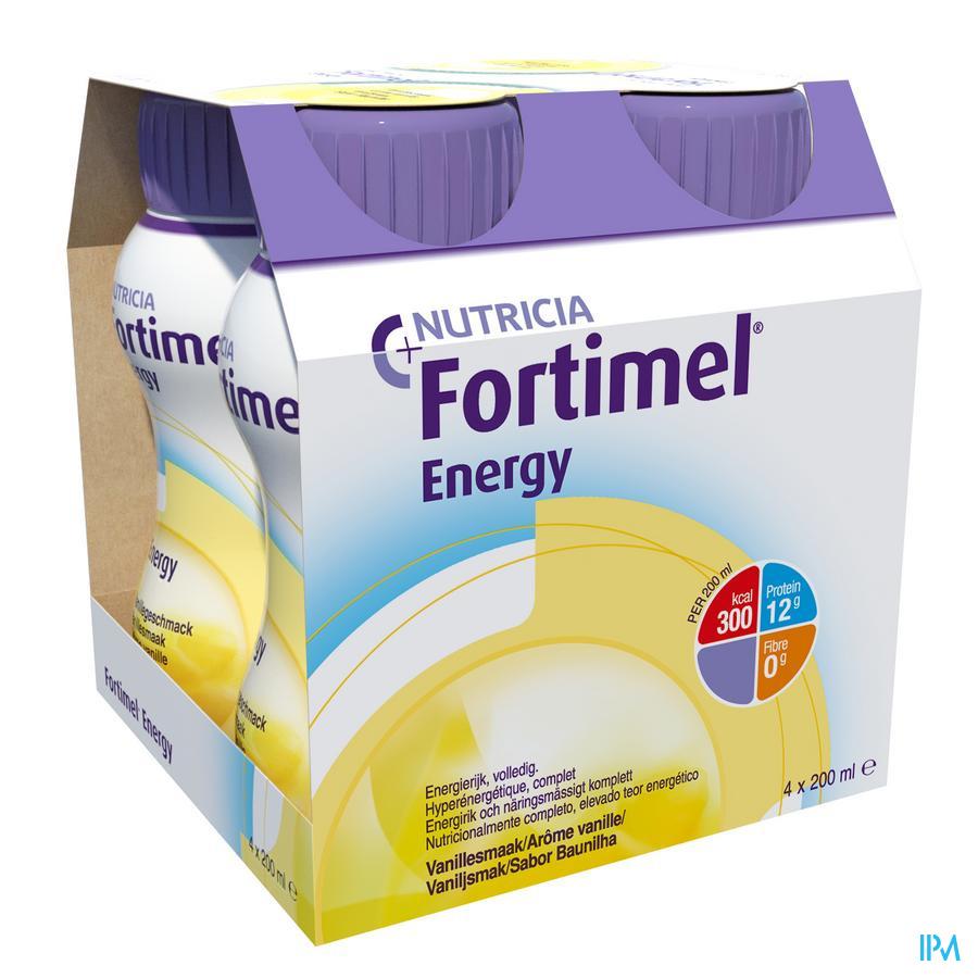 Fortimel Energy Vanille Flesjes 4x200ml