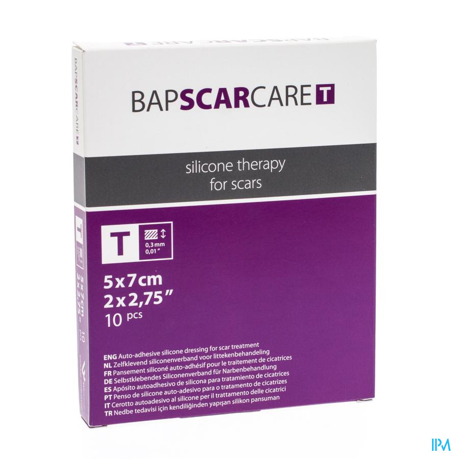 Bap Scar Care T Pansement Fin Transp 5x 7cm 10 600507  -  Bap Medical
