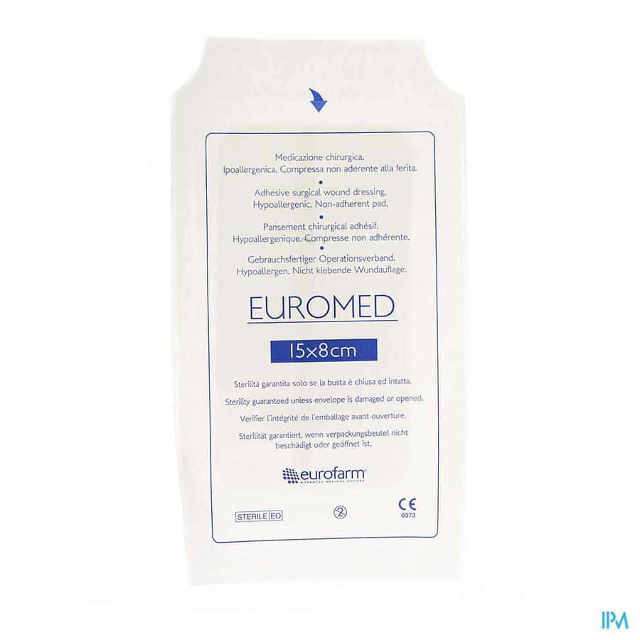 Euromed 8x15cm 1 Eilandpleister Adh Steriel