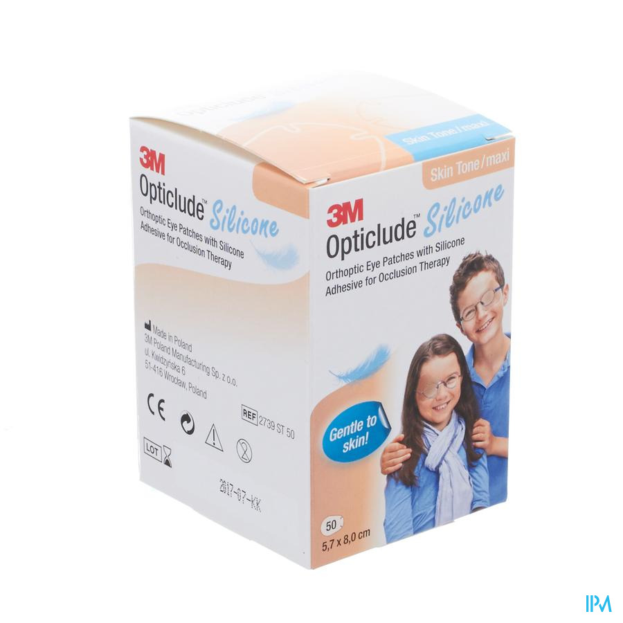 Opticlude 3m Silicone Eye Patch Skin Tone Maxi 50