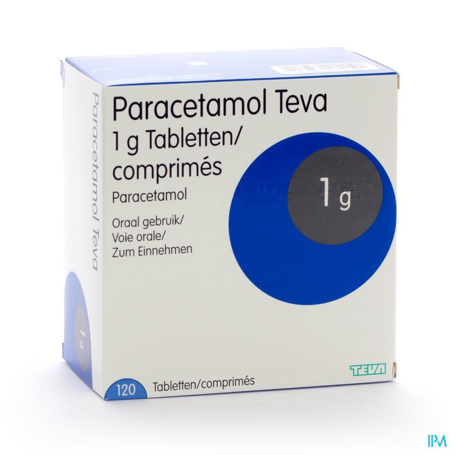 Paracetamol Teva 1g Tabl 120 X 1g Blister