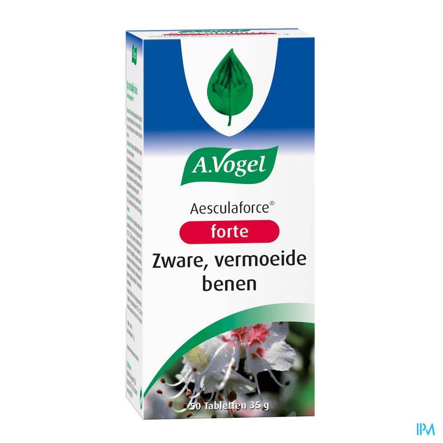 Afbeelding A. Vogel Aesculaforce Forte voor Zware, Vermoeide Benen 50 Tabletten.