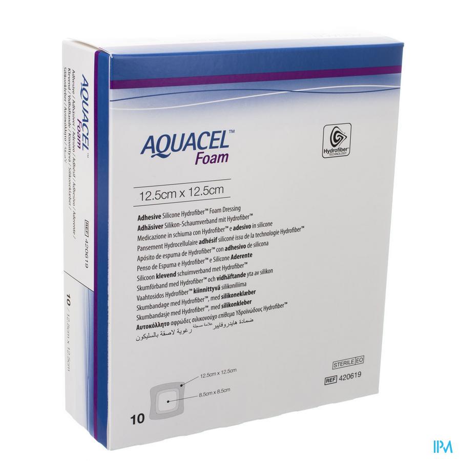 Aquacel Pans Mousse Adh Hydrofiber 12,5x12,5cm 10